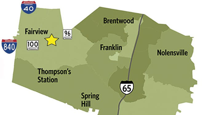 Fairview is located in west Williamson County, accessible by Interstate 40, Interstate 840, Highway 100 and Highway 96.