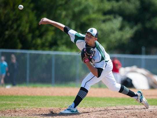 Parkside starting pitcher Hunter Parsons (13) throws