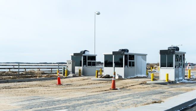Sand in the Ocean City Inlet Parking Lot from the winter storm in Ocean City on Monday, Jan 25.