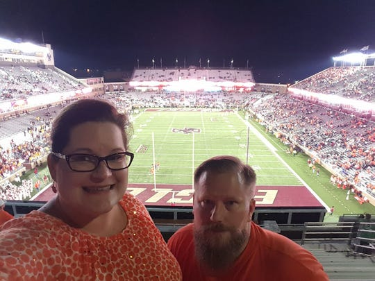 Suzanne and Bryan Shumway at the Boston College/Clemson