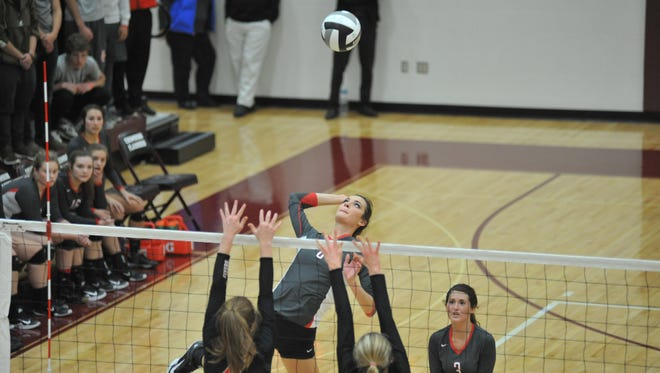 Lexi Evak will be a dominant force at the net again this season.