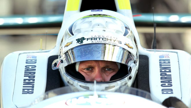 Ed Carpenter now has won three oval-track races in his career: At Kentucky, Fontana and Texas.