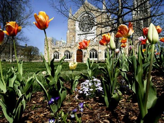 All Saints' Chapel is a centerpiece of the University