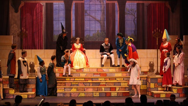"""The scenic design for Binghamton High School's 2016 production of """"Once Upon a Mattress"""" recently placed first in a contest sponsored by Kenmark Scenic Studios."""