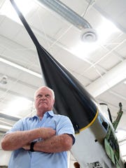 Bermuda Dunes resident Gordon Jenkins flew 100 combat missions in the F-105D and actually flew this F-105D, which is now part of the Palm Springs Air Museum collection, during his Air Force career. Photographed on Thursday, June 12, 2014.