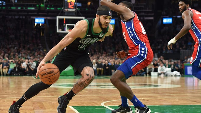 The Celtics and 76ers begin their first-round playoff series on Monday at Walt Disney World.