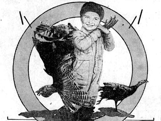 The 1928 newspaper showed a young one helping with