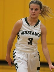 Brossart senior Ally Schultz during a girls basketball