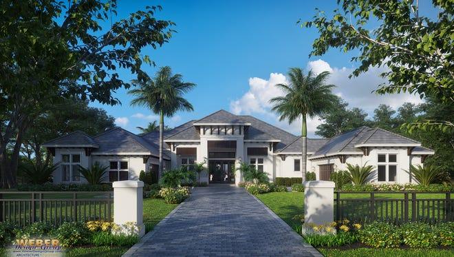 Weber Design Group designed this spec home at 551 Gordonia Road in Pine Ridge Estates.