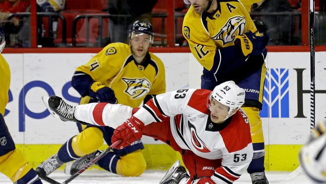 The Predators will open the 2015-16 season against the Hurricanes on Oct. 8.