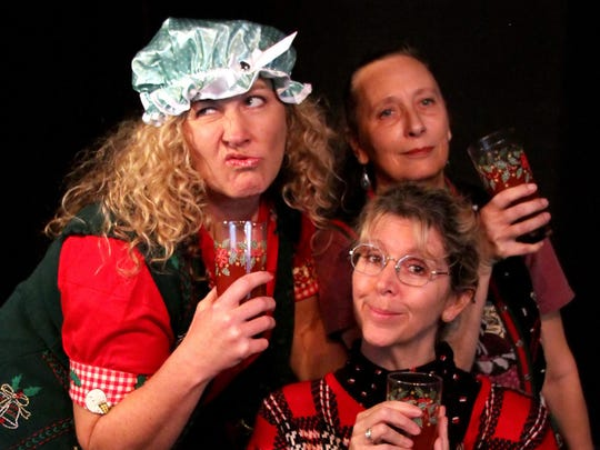 "Space 55's ""A Bloody Mary Christmas"" stars (clockwise from left) Kristie Lindeman, Wendy Warwick White and Toni Jourdan."