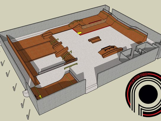 The final conceptual design for RAD Skatepark, which