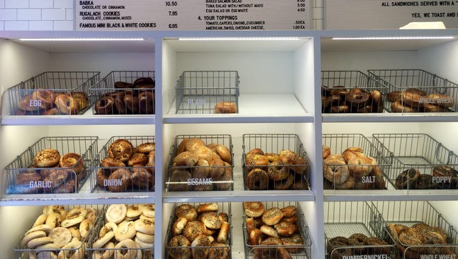 The shiny new shop now offers about 10 traditional bagel varieties made fresh daily (in addition to its iconic bialys and other Jewish goods like babka).
