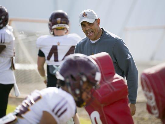 ASU head football coach  Herm Edwards during an ASU