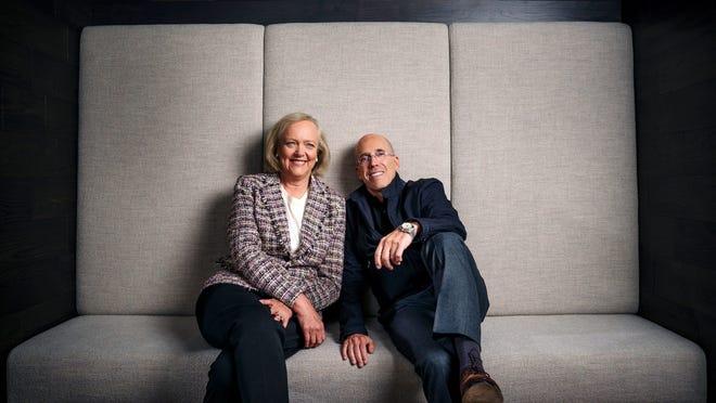 Il CEO di Quibi Meg Whitman e il fondatore Geoffrey Katzenberg.