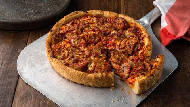 Deep Dish Meatballs, baked in a deep dish pan, with fresh ricotta and marinara and served with housemade pizza chips for dipping ,is new on the menu at Uno Pizzeria & Grill.