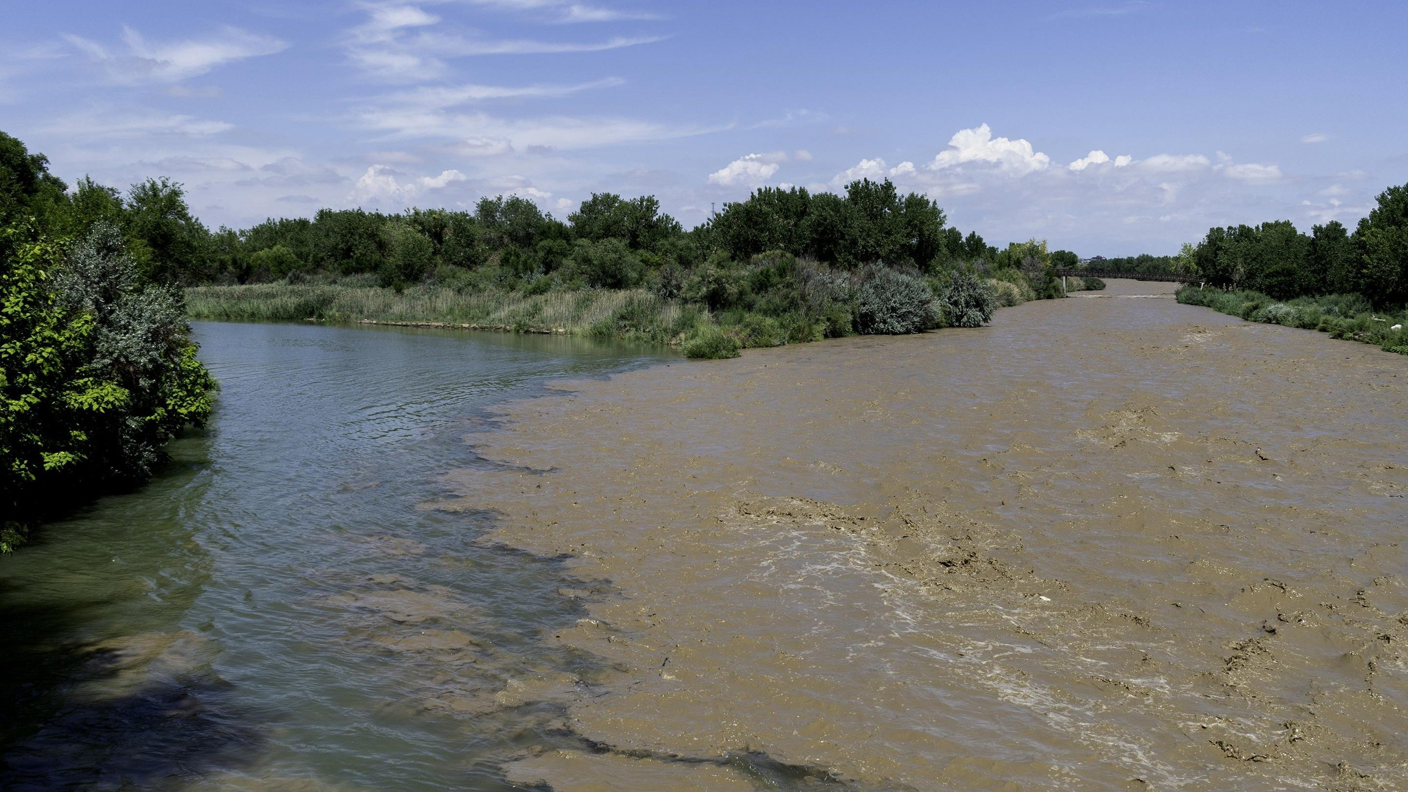 Here the Arkansas and Fountain Creek meet, showcasing their differences. That city, government clean water agencies, Pueblo County and a lower valley water conservancy district have decided how to solve their dispute in order to improve the quality of water flowing in the creek from the city into Pueblo County and eastward down the river.