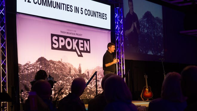 Clay Jones, TMP director of operations, speaks during a previous Spoken event.