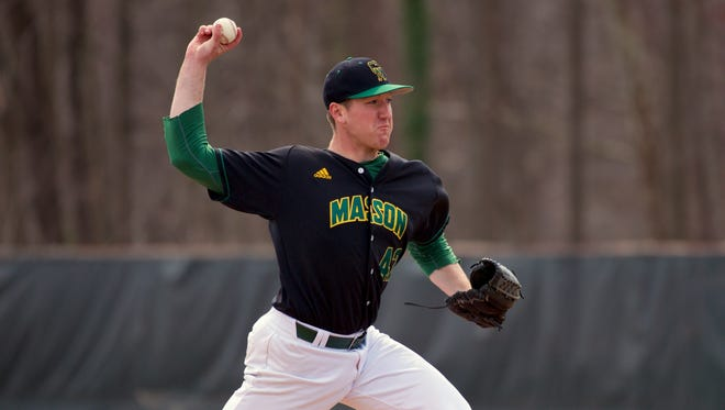 George Mason's Tyler Zombro, a Robert E. Lee High School graduate, signed a free-agent contract with the Tampa Bay Rays on Friday and will report to their farm team in Port Charlotte, Fla.