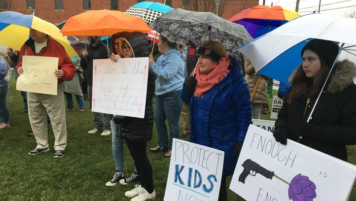 Southern Indiana protesters brave cold and rain in Saturday's 'March for Our Lives'