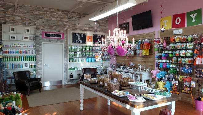 Woof Gang Bakery & Grooming pet store recently opened in the Westhaven community's Town Center.