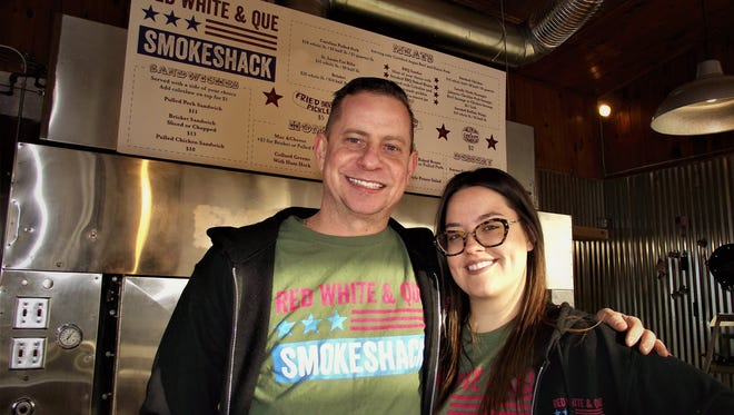 Dan & Katie Misuraca are the owners of Red White & Que Smokehouse.