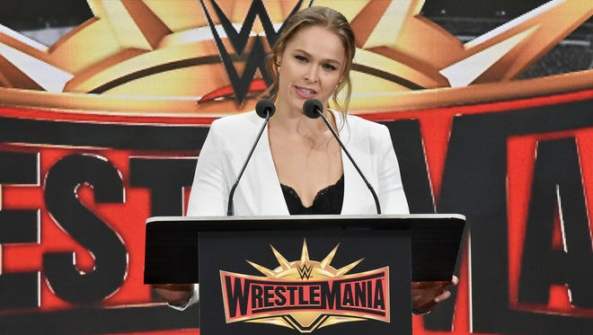 Ronda Rousey  makes her WWE in-ring debut on Sunday in Wrestlemania 34