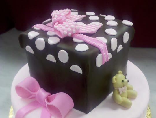 A cake made at CocoLuxe Fine Pastries.