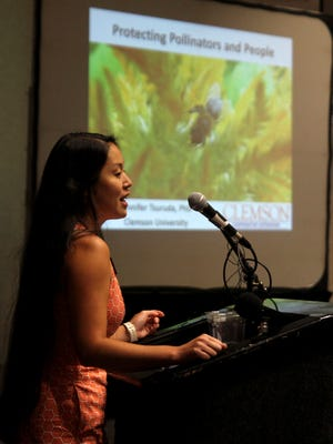 Jennifer Tsuruda, a bee specialist at Clemson University, talks about combating mosquitoes and Zika virus while working with bees.