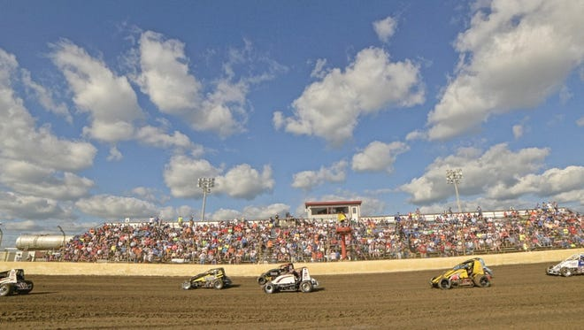 The stands at Kokomo Speedway were filled for Indiana Sprint Week.