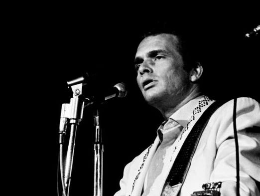 1967: Merle Haggard performs at the Capitol Records pizza party and show at the Auditorium.