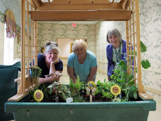 Indoor Sensory Garden L-R Lisa Thomas, Linda Klug + Adeline Lilien