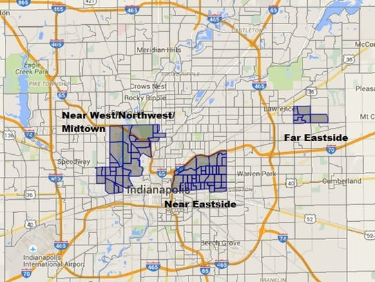 The areas that United Way of Central Indiana says will