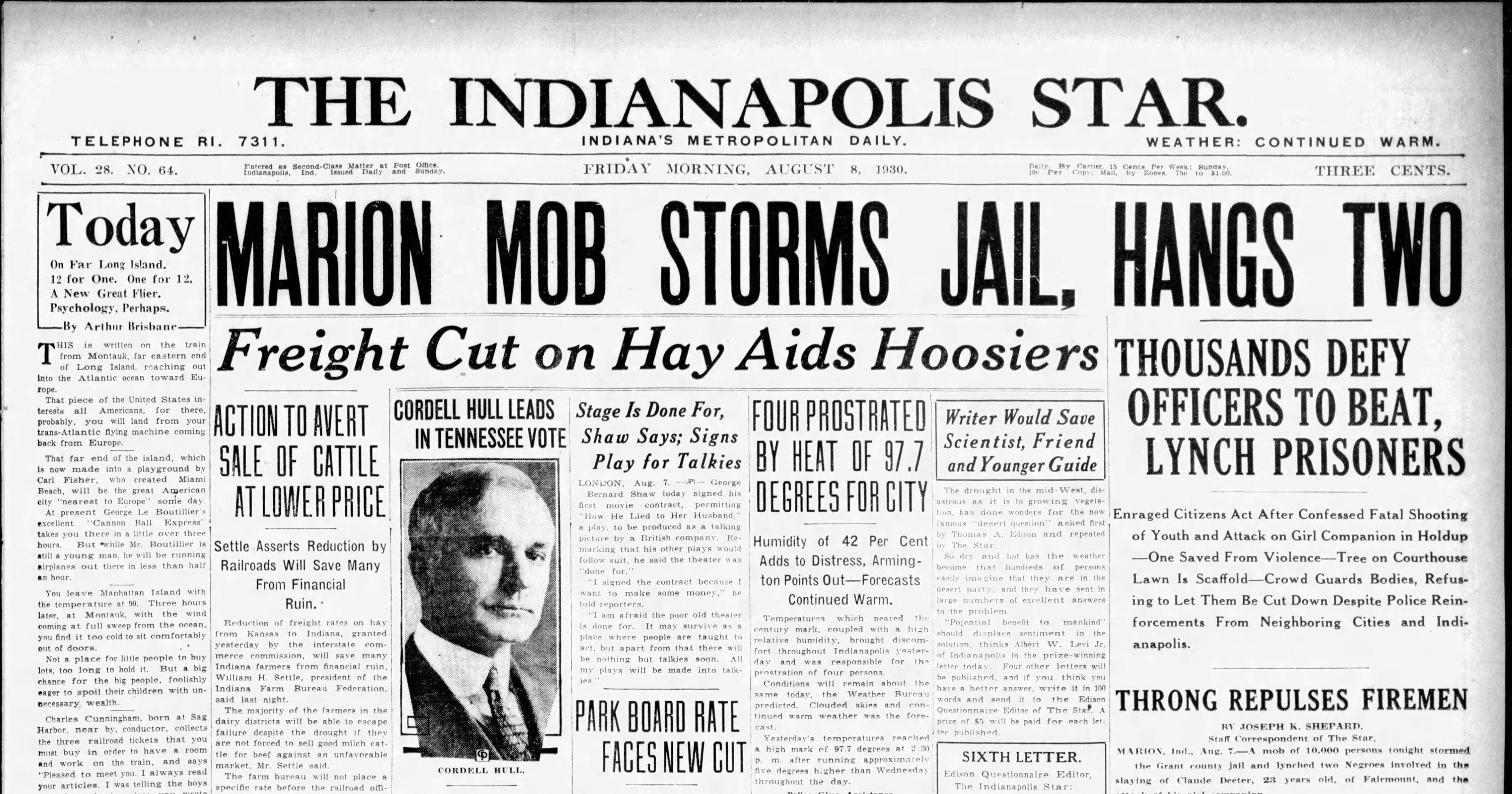 """Résultat de recherche d'images pour """"Marion, Indiana 1930"""""""