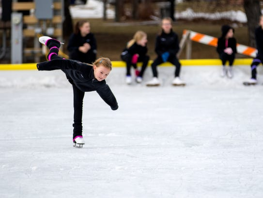 Sonya McClain, 7, preforms a routine for the crowd