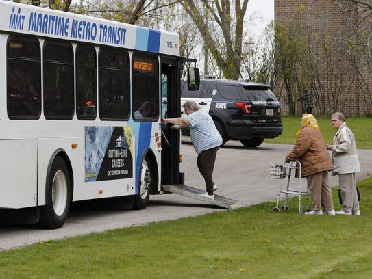 Maritime Metro Transit buses helped transfer people