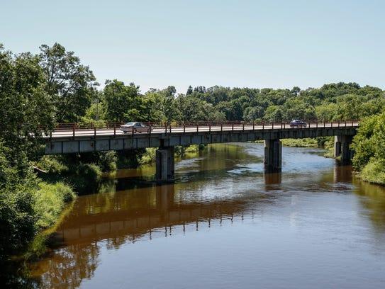 Rapids Road bridge near downtown Manitowoc on July