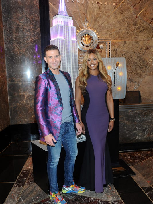 Laverne Cox Lights The Empire State Building Purple Honoring National Bullying Prevention Month