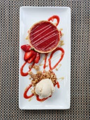 Marketplace's strawberry rhubarb tart crafted by sous