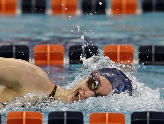 West York's Meghan French swims the 100 yard freestyle