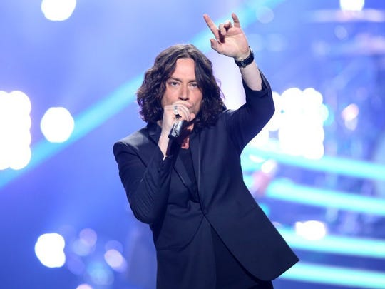 Constantine Maroulis performs at the 'American Idol' season finale at the Dolby Theatre  in Los Angeles in 2016. Maroulis, a Wyckoff native, finished 6th on the show in 2005.