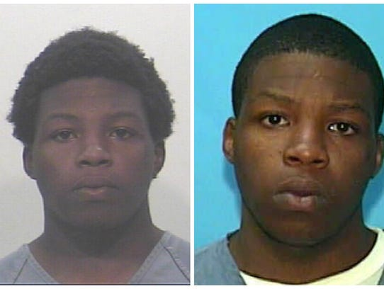 Cordealria Collins pictured at age 17, left, and at