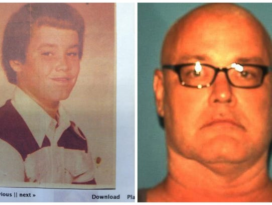 Brooks Bellay pictured in a school photo, left, prior