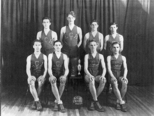 Leo Ferris, top left, was part of Elmira Catholic's