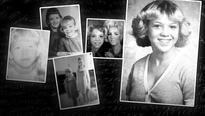 A collage of childhood photos of Tammy Jo Alexander.