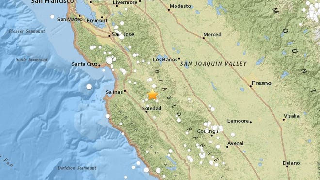 A 4.6 magnitude earthquake was recorded outside Gonzales on Nov. 13.