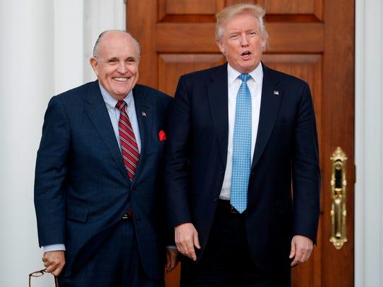 President Trump and Rudy Giuliani