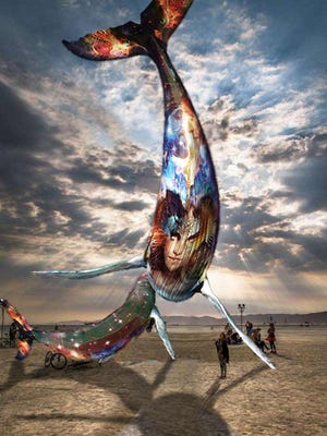 """A rendering of the Pier Group's """"Space Whale"""" project, based at the Generator in Sparks, and destined for Burning Man 2016."""