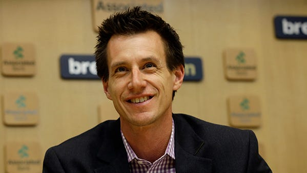 Craig Counsell speaks at a press conference Monday in Milwaukee.