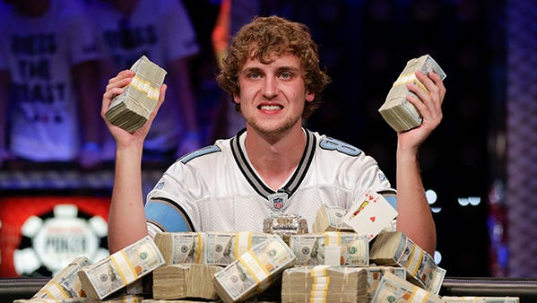 Ryan Riess won $8.3 million in the WSOP in 2013.